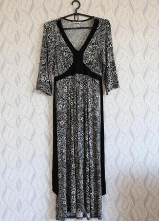 Marks & spencer віскозна сукня в принт з поясом