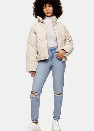 Базовые  джинсы topshop рваные