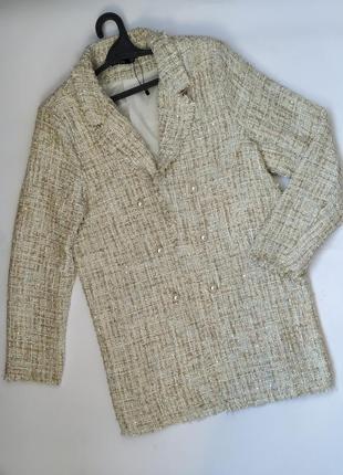Длинный пиджак жакет блейзер пальто большого размера