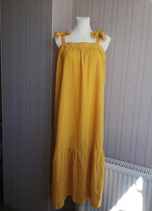 Жёлтый сарафан zara h&m primark