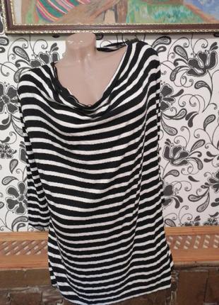 Женская блузка блуза полосатая туника тельняшка