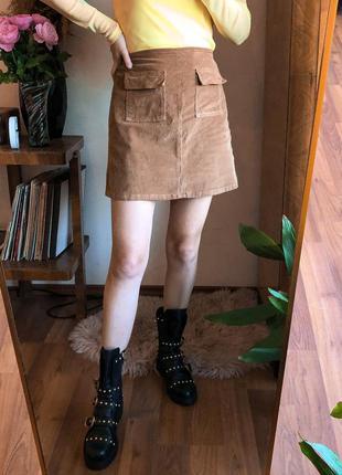 Спідничка вельветова під вінтаж , юбка вельвет под винтаж