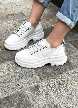 Кросівки білі натур шкіра ціна супер🔥