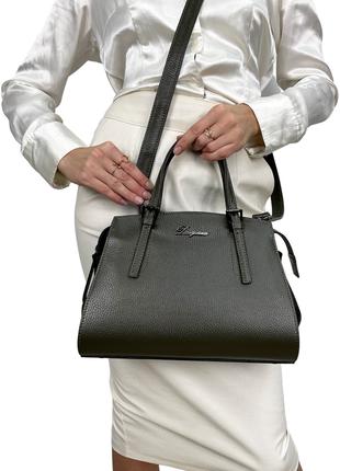 Сумка женская кожаная, сумка dovgiani, маленькая, зеленая, производство италия