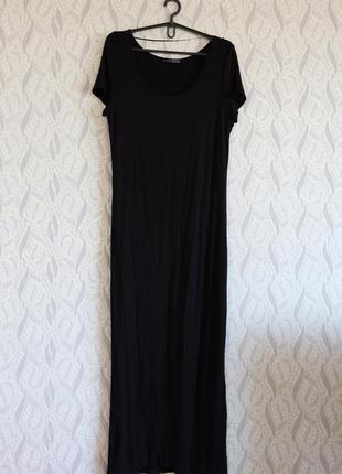 Atmosphere чорна максі-сукня віскоза