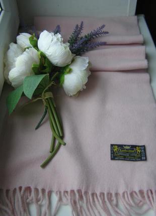 Feliciani шарф розового цвета 100% шерсть италия