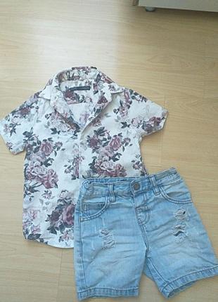 Костюм комплект шорты рубашка next 98 cm