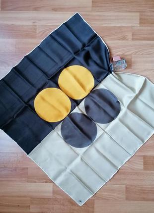 👑шёлковый подписной платок каре 👑вінтажний шовковий шарф в принт