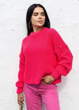Малиновый свитер джампер