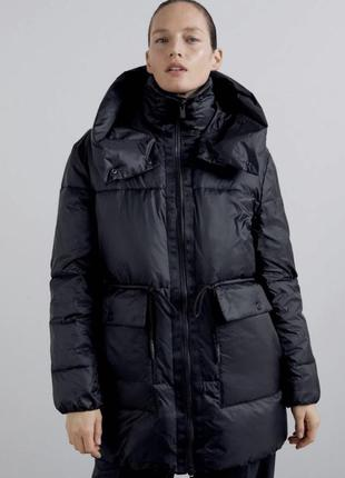 Теплая куртка пуффер zara h&m mango анорак пуховик дутик zara mango