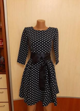 Новое платье в горошек🧡🧡🧡