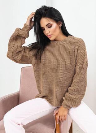 Коричневый свитер джампер