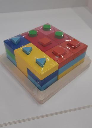 Развивающая деревянная игра геометрия