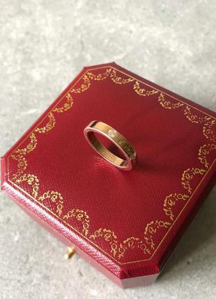 Кольцо в стиле c de cartier wedding band обручальное