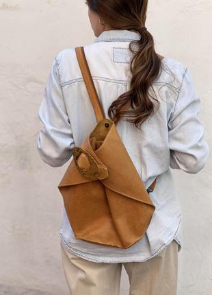 Рюкзак texier натуральная кожа с кошельком