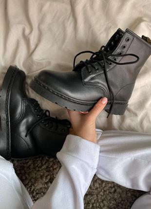 Ботинки dr. m. 1460 mono black (без меха)