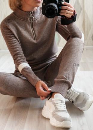 Ежедневный спортивный костюм на осень-зиму, новый, стильный комплект кофта и штаны