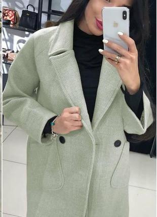 Новые оттенки пальто кашемир в ёлочку