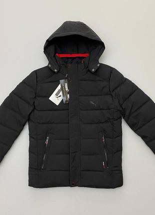 Шикарная мужская куртка puma зима с капюшоном
