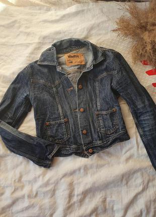 Винтажная джинсовая куртка укороченная размер xs, s новая kiliwatch