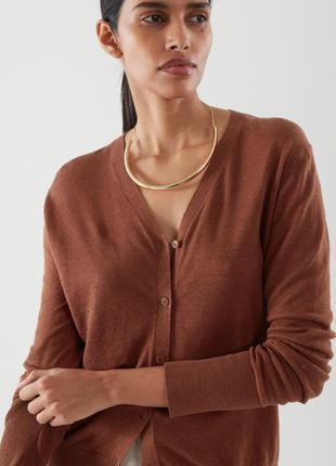 Женская льняная кофта кардиган cos оригинал размер l