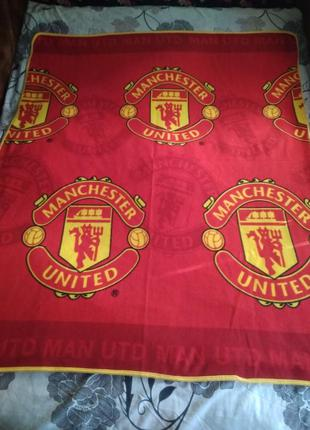 Плед,мини покрывало мanchester united,банер