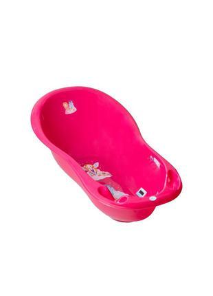 "Дитяча ванночка з градусником tega baby велика 102 см ""little princess"" рожевий"
