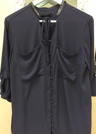 Блуза/ нарядная/оригинал/moxito/ фиолетовая/размер m/l