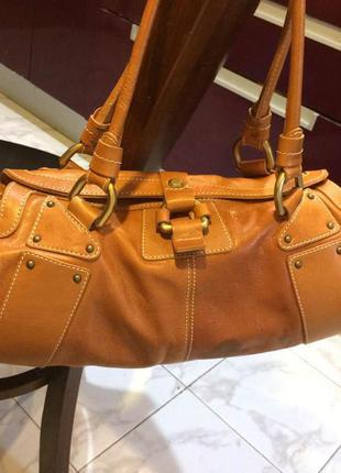 Стильная практичная,вместительная сумка nicoli,кожа,италия