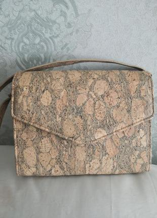 Стильная сумка из натуральной пробки и кожи 👜👜👜🌹🌹🌷🌷