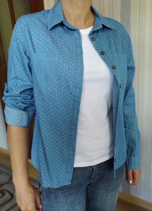 Джинсовая рубашка (подойдет на м, l)