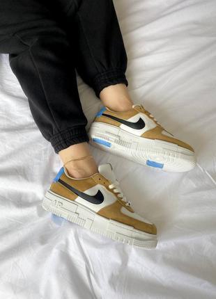 Nike air force 1 pixel se desert sand кроссовки найк аир форс наложенный платёж купить