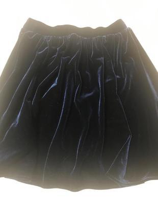Шикарная бархатная юбка