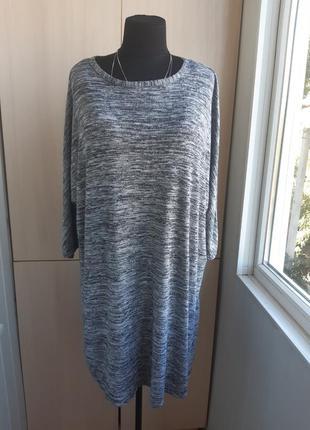 Батальное платье-туника с вискозой.