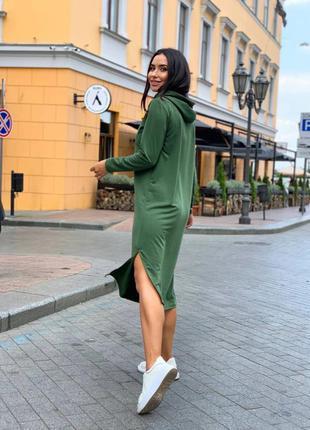 Платье худи спорт
