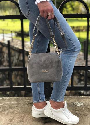 Новая замшевая сумочка, клатч
