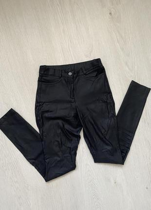 Кожаные штаны леггинсы шкіряні штани лосіни