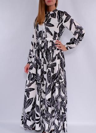 Ярусные платья макси, разные расцветки