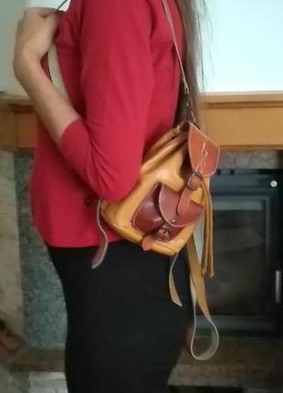 Рюкзак кожанный маленький
