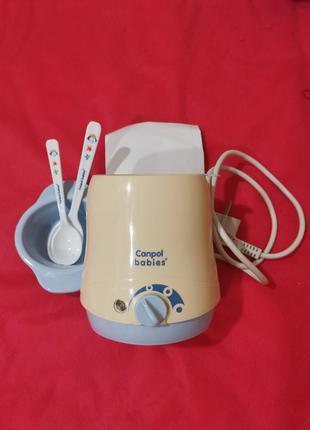 Подогреватель для бутылочек canpol bebies с тарелкой и ложками