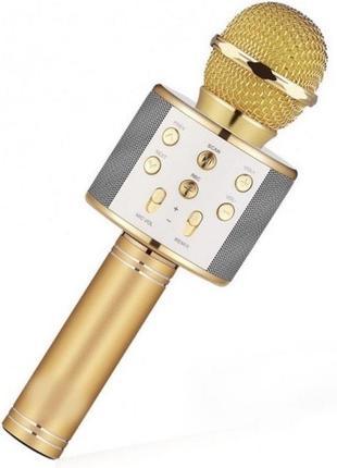 Беспроводной караоке микрофон wster ws-858 bluetooth с в блютуз q7 q9