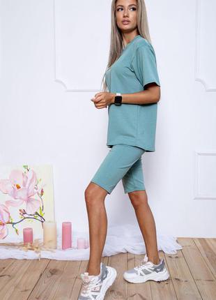 Костюм прогулочный повседневный футболка и шорты
