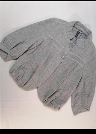 Пиджак жакет шерсть хлопок