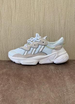 Adidas ozweego white/grey 🍏 стильные женские кроссовки адидас