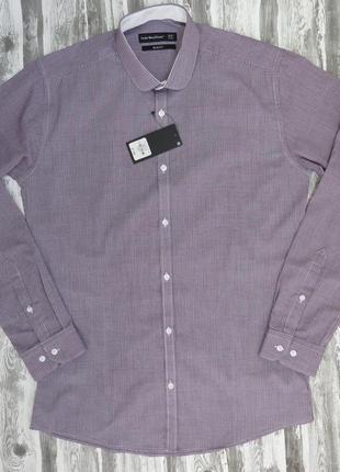 Рубашка с длинным рукавом приталенная размер 48