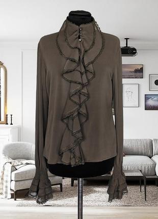 Блуза шелковая в викторианском стиле list (италия)