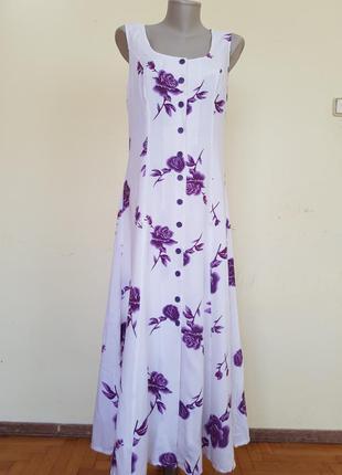 Легкое нежное летнее платье на пуговицах bpc