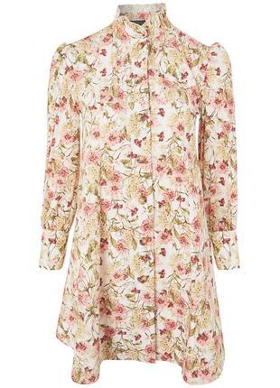 Котоновая блуза в стиле laura ashley/винтажная  блуза пишный рукав