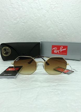 Женские солнцезащитные очки в стиле ray ban🔥lux качество, коричневые