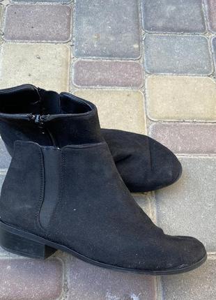 Замшевые демисезонные ботинки осенние asos челси